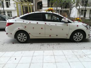 car rental, car on hire for wedding